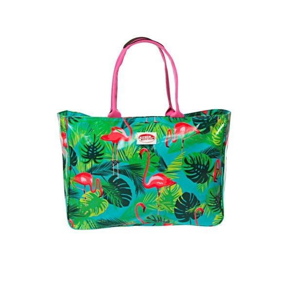 Sac de plage flamant rose Kitsch Kitchen