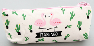 Trousse flamant rose cactus 1 Kawaii culture