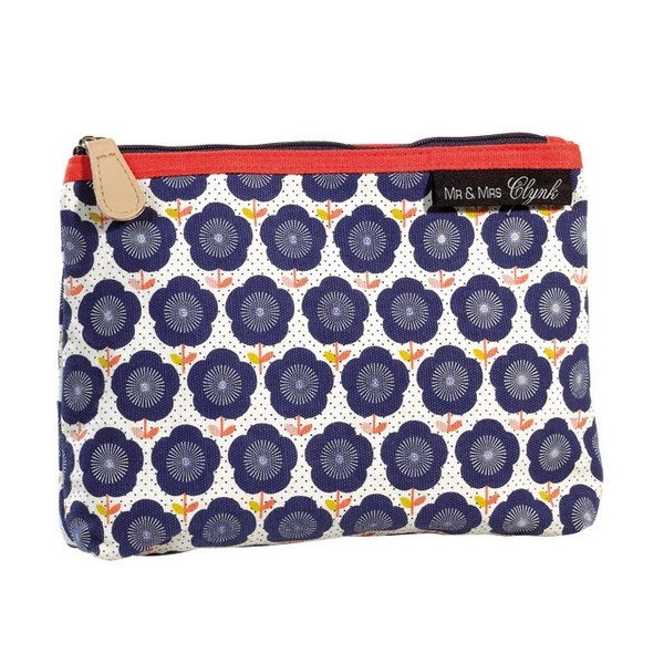 Trousse à maquillage fleurs bleues Mr and Mrs Clynk