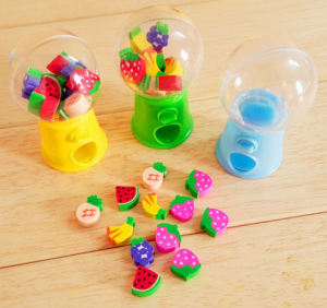 Distributeur micro gommes fruits kawaii culture