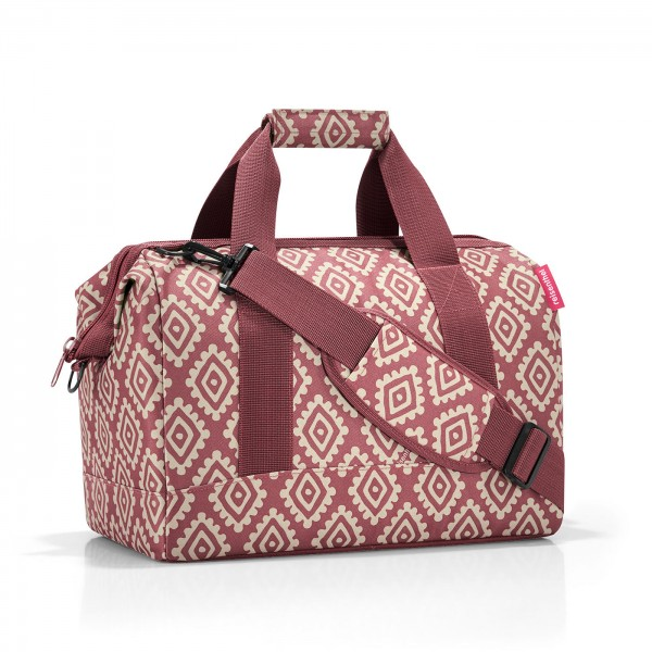 Sac de voyage allrounder M diamonds rouge Reisenthel