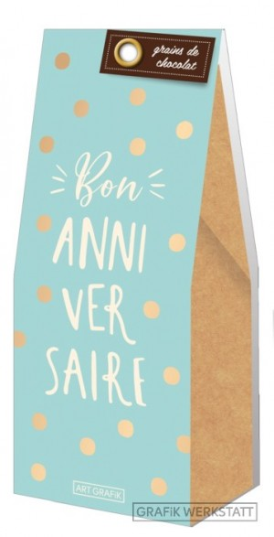 Grains de chocolat bon anniversaire Art Grafik