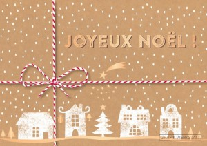 Carte postale double joyeux noël 8 Art Grafik