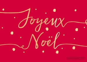 Carte postale double joyeux noël 7 Art Grafik