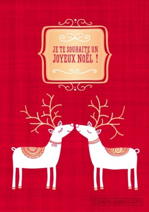 Carte postale double joyeux noël 6 Art Grafik