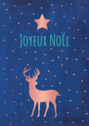 Carte postale double joyeux noël 5 Art Grafik