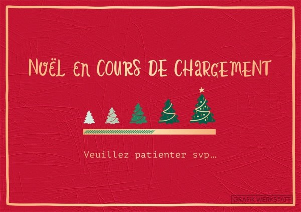 Carte postale double noël en cours Art Grafik