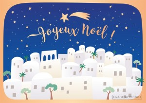 Carte postale double joyeux noël 3 Art Grafik