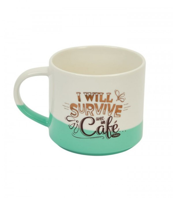 Mug en porcelaine bicolore i will survive Natives