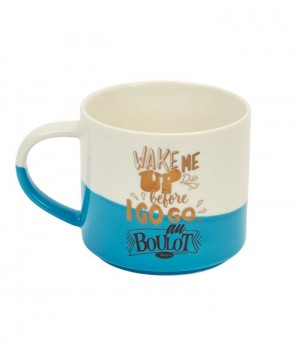Mug en porcelaine bicolore wake me up Natives