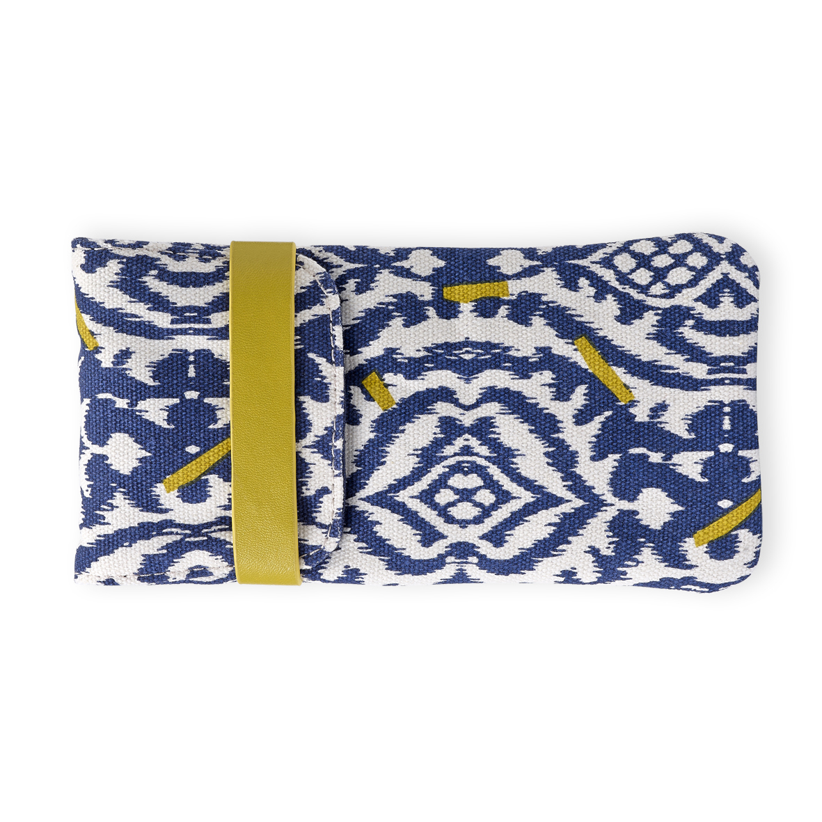 Etui à lunettes ikat bleu Mr and Mrs Clynk