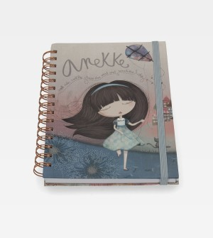 Cute spiral notebook A5 Anekke