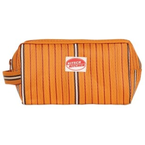 Trousse de toilette stripes orange Kitsch Kitchen