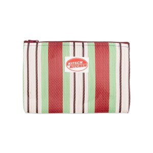 Make up bag stripes green Kitsch Kitchen