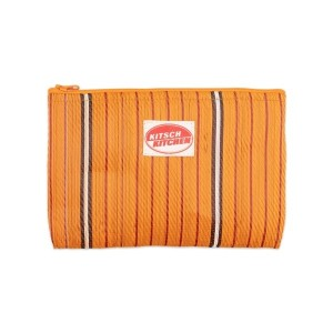 Make up bag stripes orange Kitsch Kitchen
