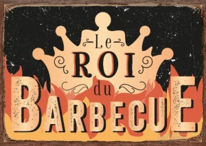 Carte postale le roi du barbecue Art Grafik