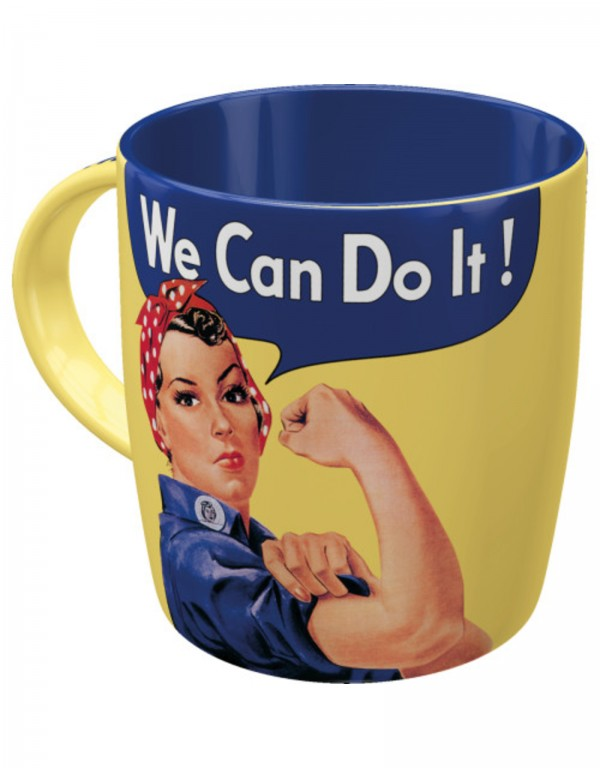 Mug en céramique we can do it Nostalgic Art
