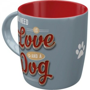 Mug en céramique love dog Nostalgic Art