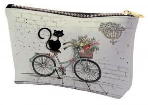 Trousse trapèze PM chat vélo bug art Kiub