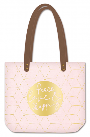 Sac cabas manufacture peace love shopping Art Grafik
