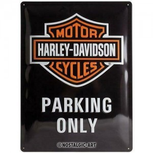 Plaque métal Harley Davidson parking only Nostalgic Art