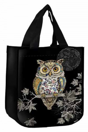 Sac cabas chouette branche bug art jewels Kiub
