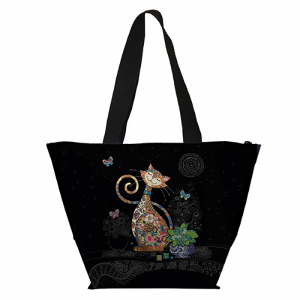Lunch bag isotherme chat papillons bug art jewels Kiub